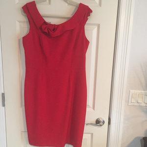 Glamorous Red Calvin Klein Dress, size 12 NWOT